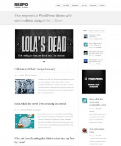 Wordpressテーマrespo